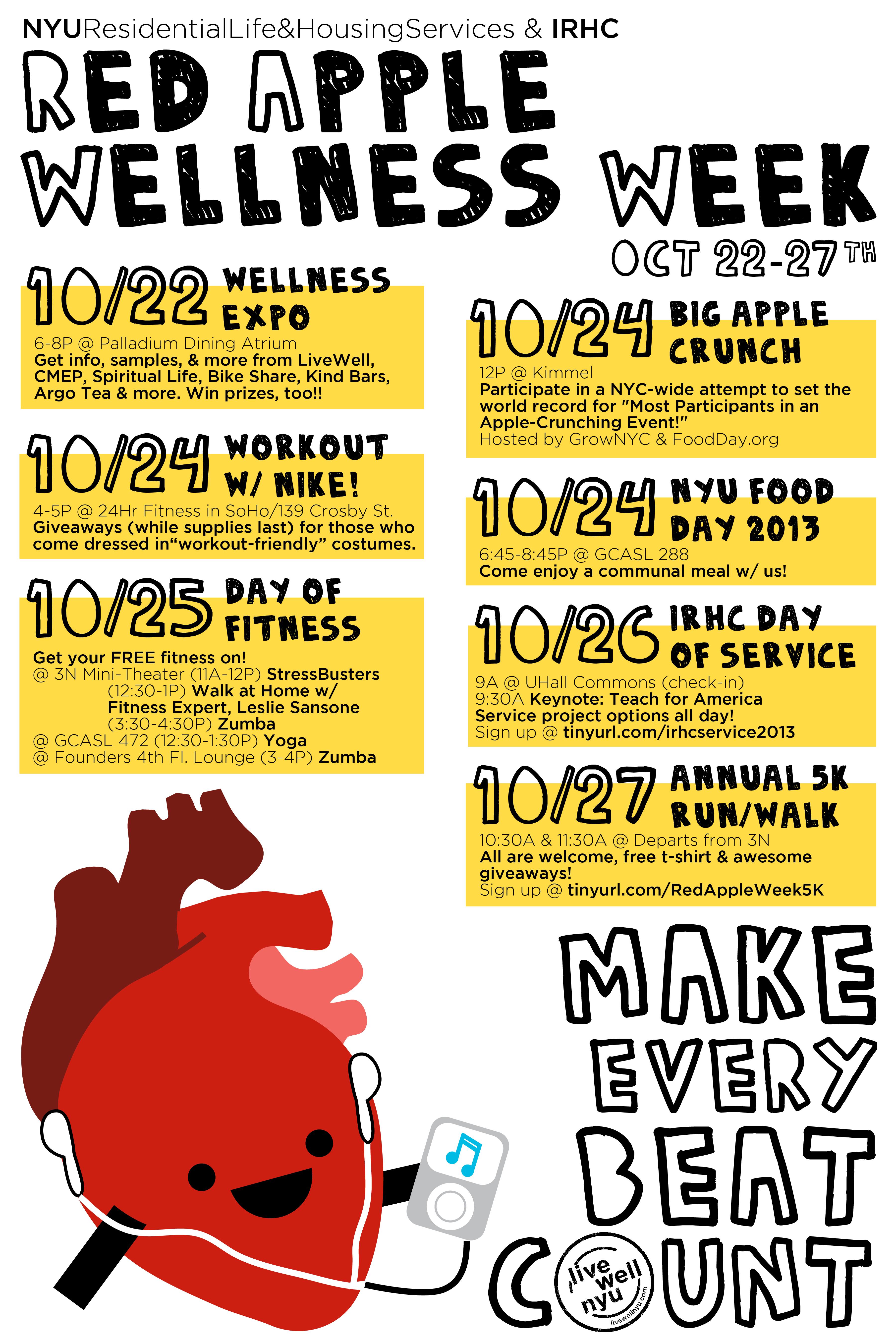 Red Apple Wellness Week Nyu Founders Hall