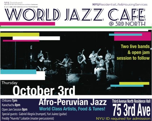 World Jazz Cafe Flyer 10-3